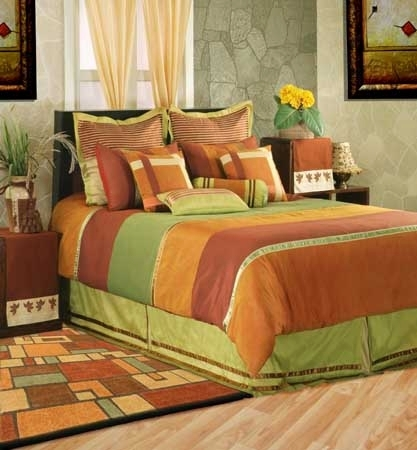 Kinston BT-640 Orange / Rust Poly Slub 100% Polyester Made in India Home Texco Bedding
