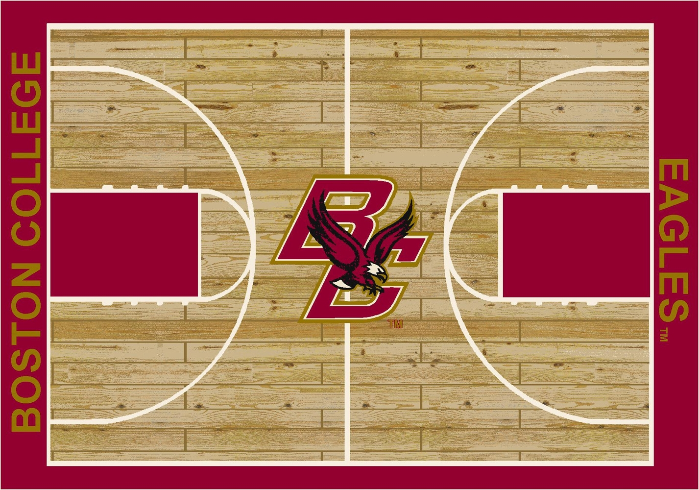 College Basketball Court Boston College 100 Stainmaster