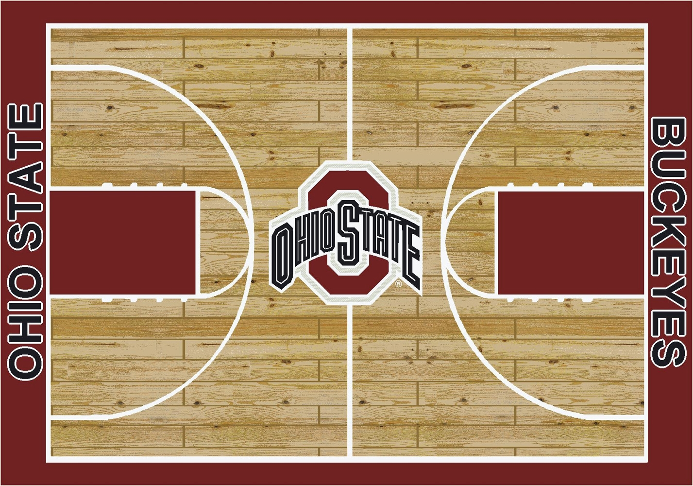 College Basketball Court Ohio State University 100