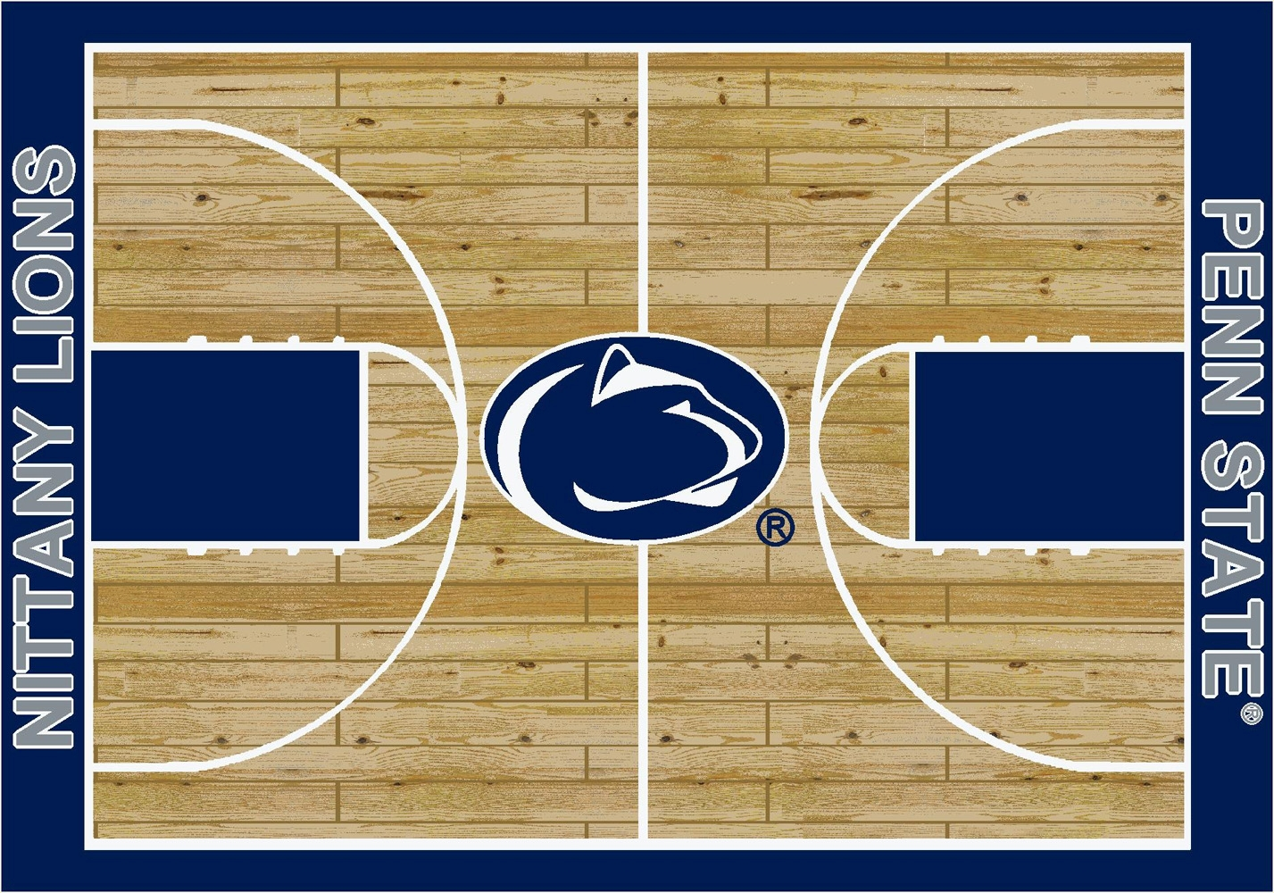 College Basketball Court Penn State University 100