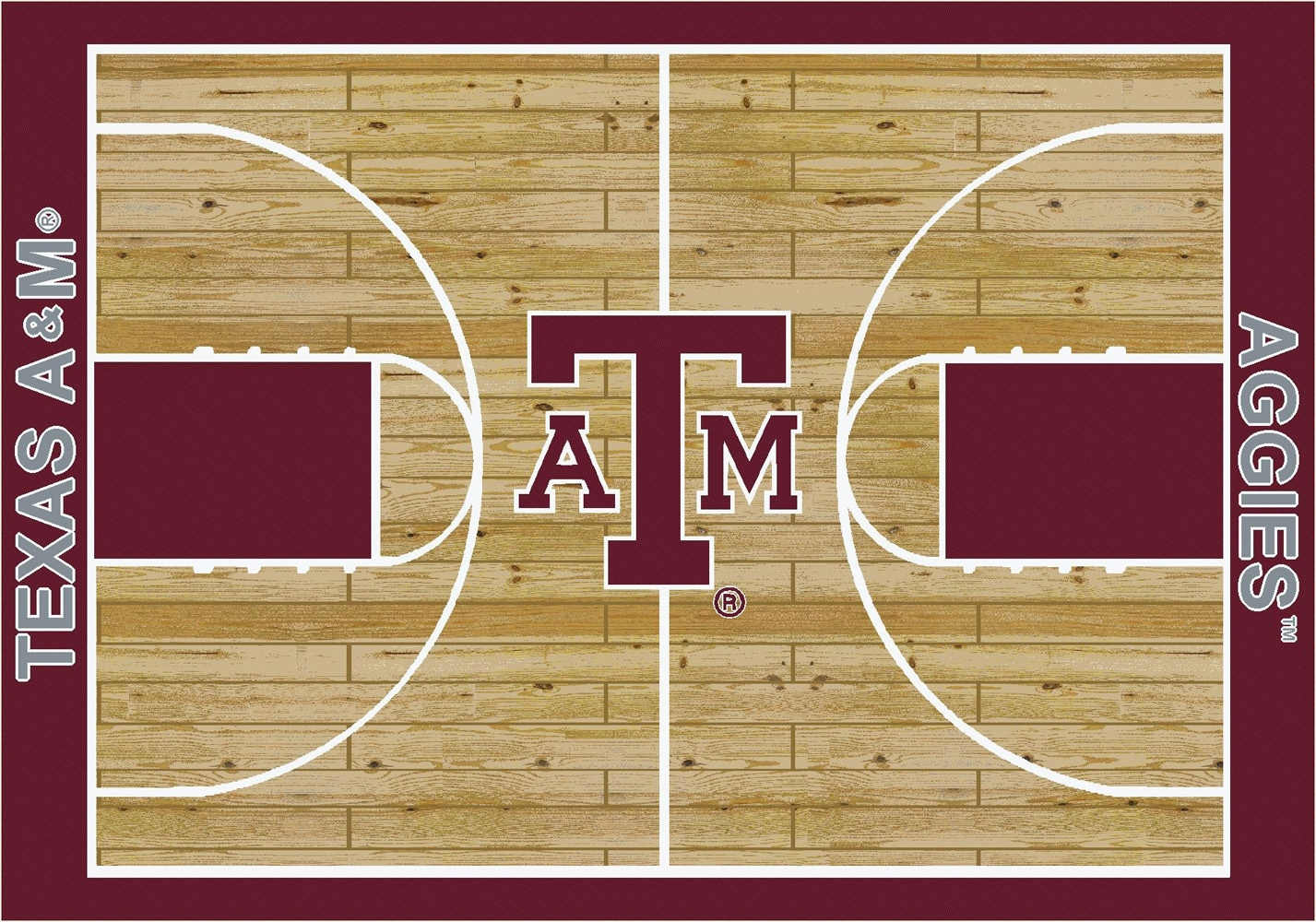College Basketball Court Texas A Amp M University 100