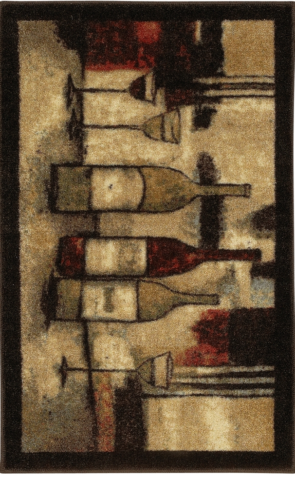 Mohawk New Wave 10291 426 Wine And Glasses Brown Rug