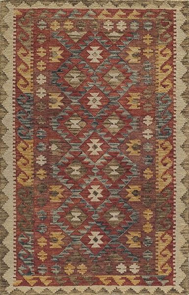 Momeni Tangier TAN-7 Red Rug