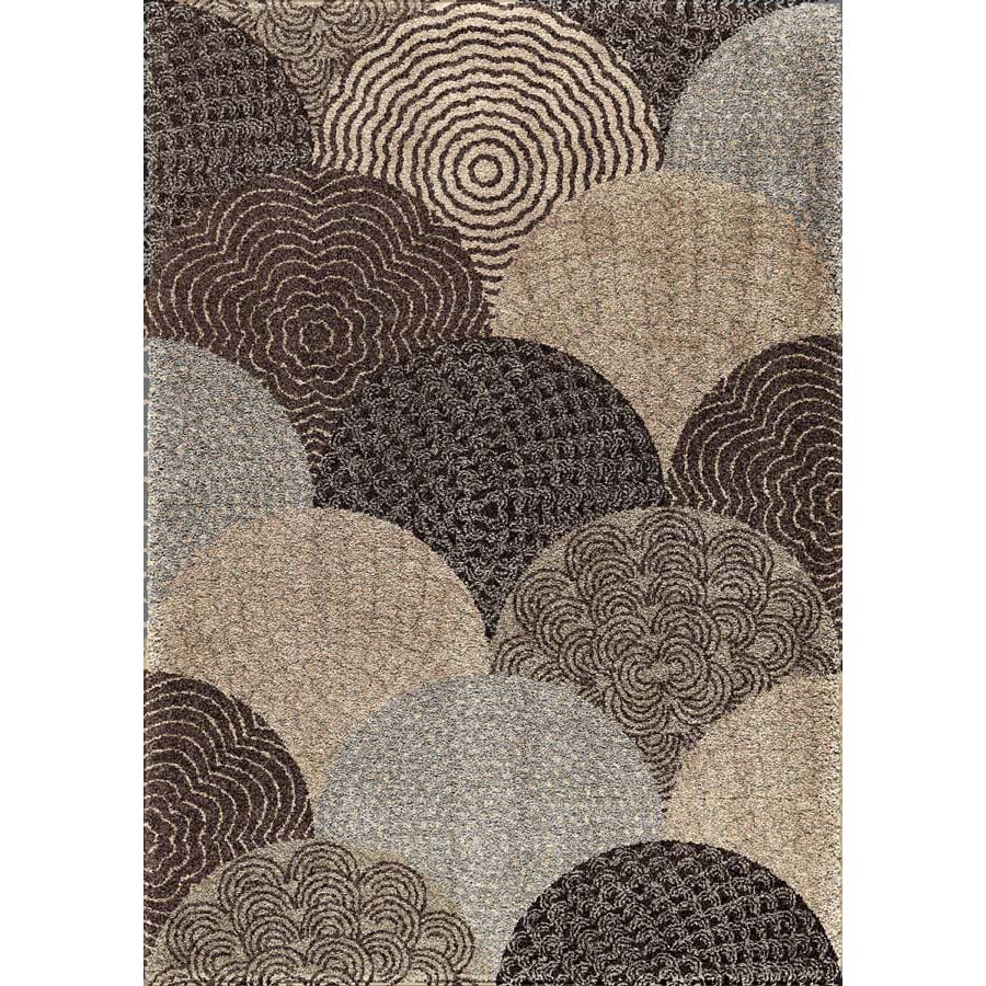 Orian Rugs Patterson Charcoal: Orian Metropolitan 1650 Oystershell Seal Black Area Rug