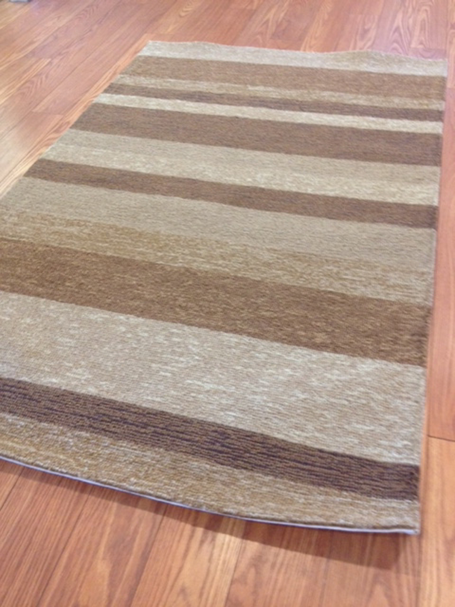 Payless Rugs Clearance Desert Sand Stripe Rug 3 Ft 6 In X