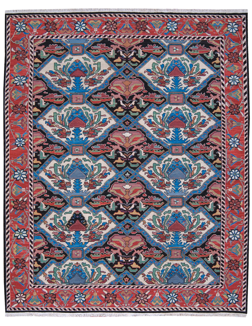 Grand Antiquities GA48 Multi Hand Knotted Flat Weave 100% Wool Payless Rugs