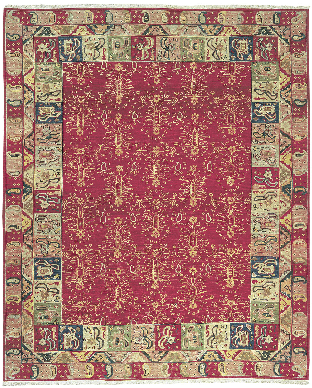 Grand Antiquities GA93 Rust Ukraine Hand Knotted Flat Weave 100% Wool Payless Rugs