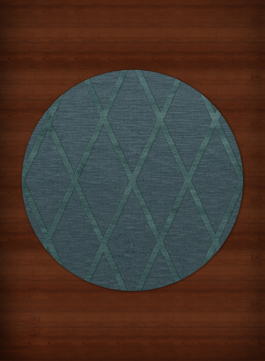 Teal Round Rug Home Decor