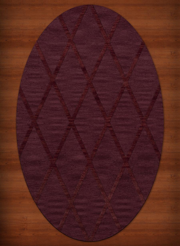Payless Troy Tr11 150 Burgundy Oval Rug