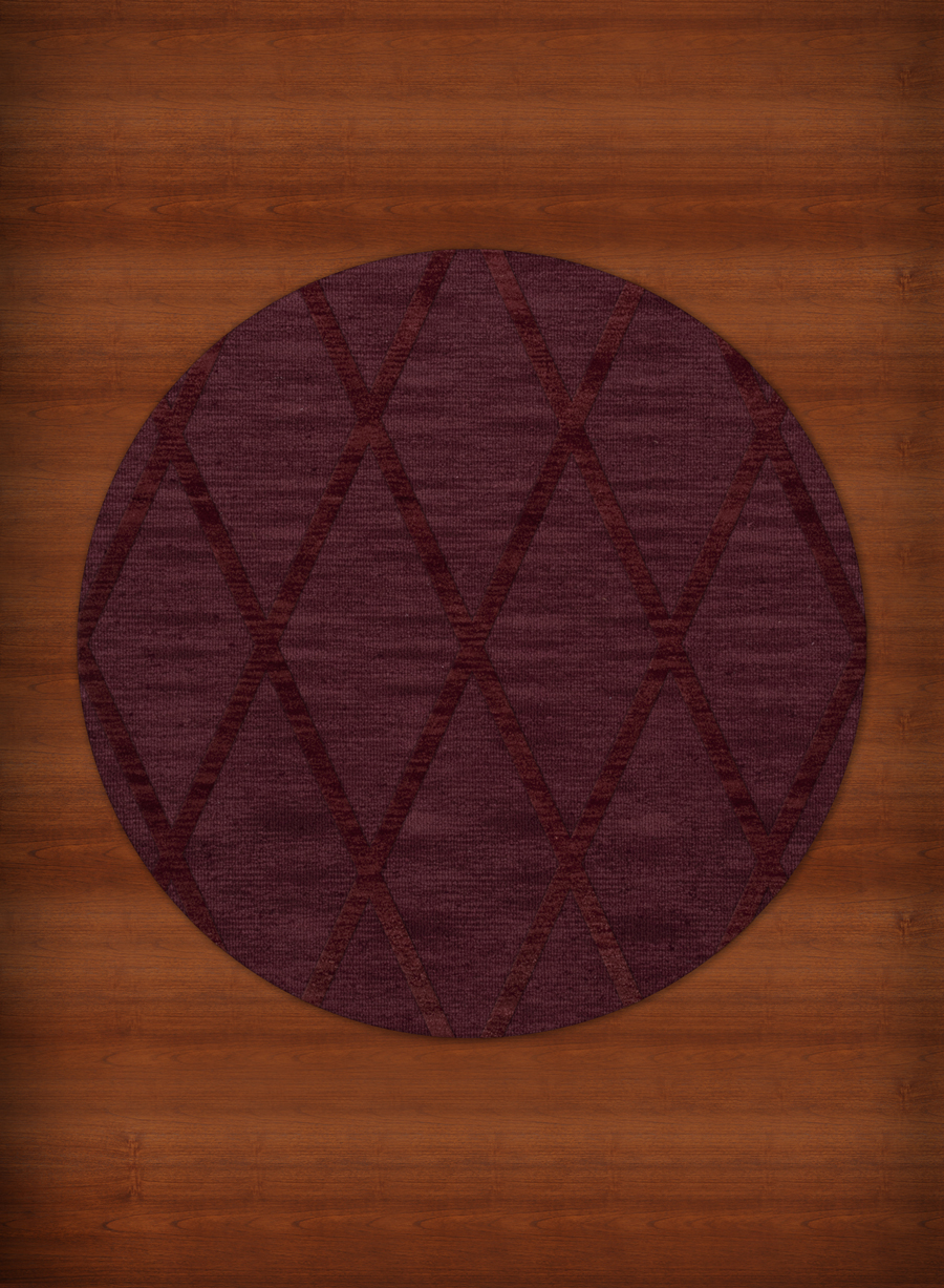 Payless Troy Tr11 150 Burgundy Round Rug