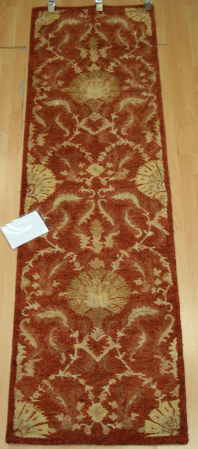 PhillipolRust2 ft 3 in x 8 ft100% Wool Hand Tufted