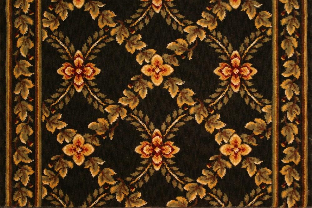 Royal Luxury Woodland Trellis 1325 0003a Ebony Carpet