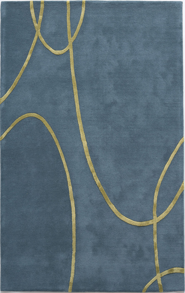 Rugs America Millennium 4605E Electric Blue