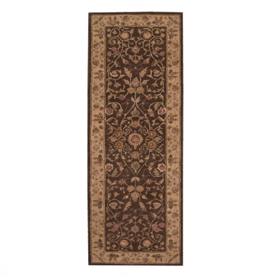 Nourison Heritage Hall He05 Brown Runner
