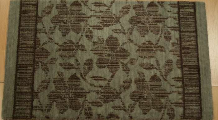 Floral Stencil FS-01 Foliage Carpet Stair Runner