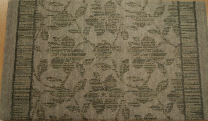 Floral Stencil FS-01 Morning Mist Carpet Stair Runner