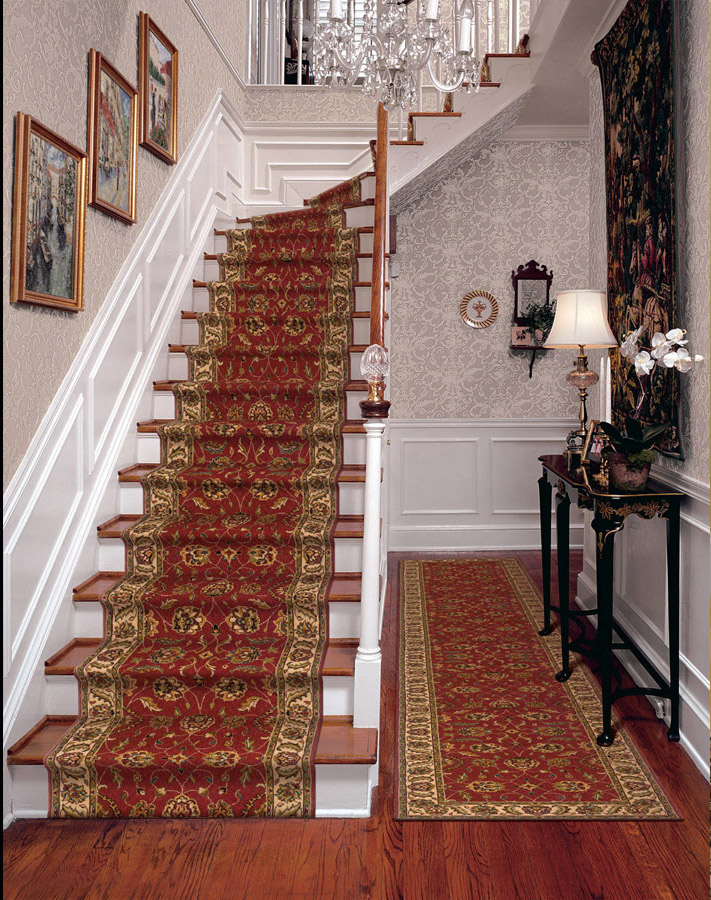 Palace Garden Salmon Pattern Carpet Stair Runner