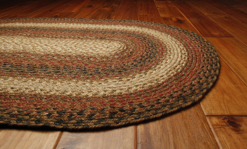 Russet Braided Rug by Green World & Homespice