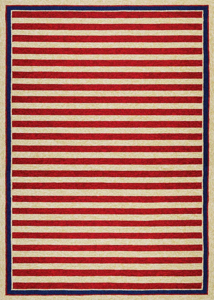 Couristan covington 3126 0260 nautical stripes red navy rug for Red and navy rug