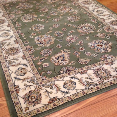 Payless Rugs Clearance Shadows Green Area Rug 4 ft x 6 ft