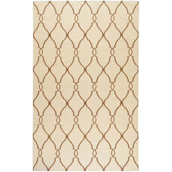 Fallon FAL-1009 Ivory Golden Brown Rug by Surya