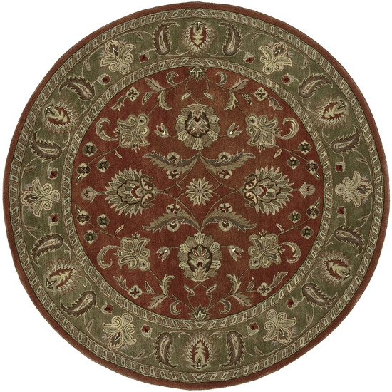 Crowne CRN - 6019 Dark Rust Rug by Surya
