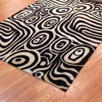 Payless Rugs Area Rug Zonga Black 5 ft x 8 ft