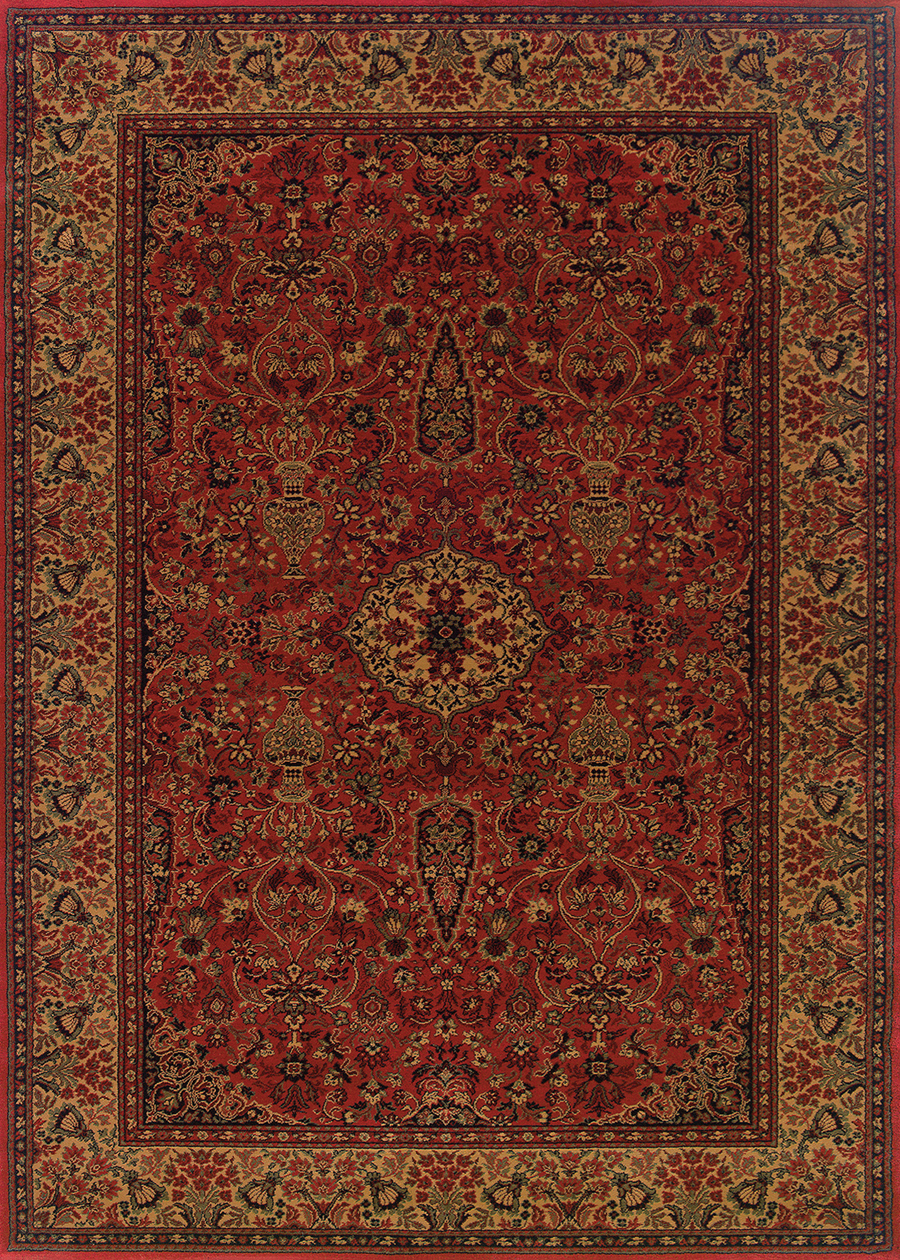 Ardebil Crimson 3760/4872 Everest Rug by Couristan