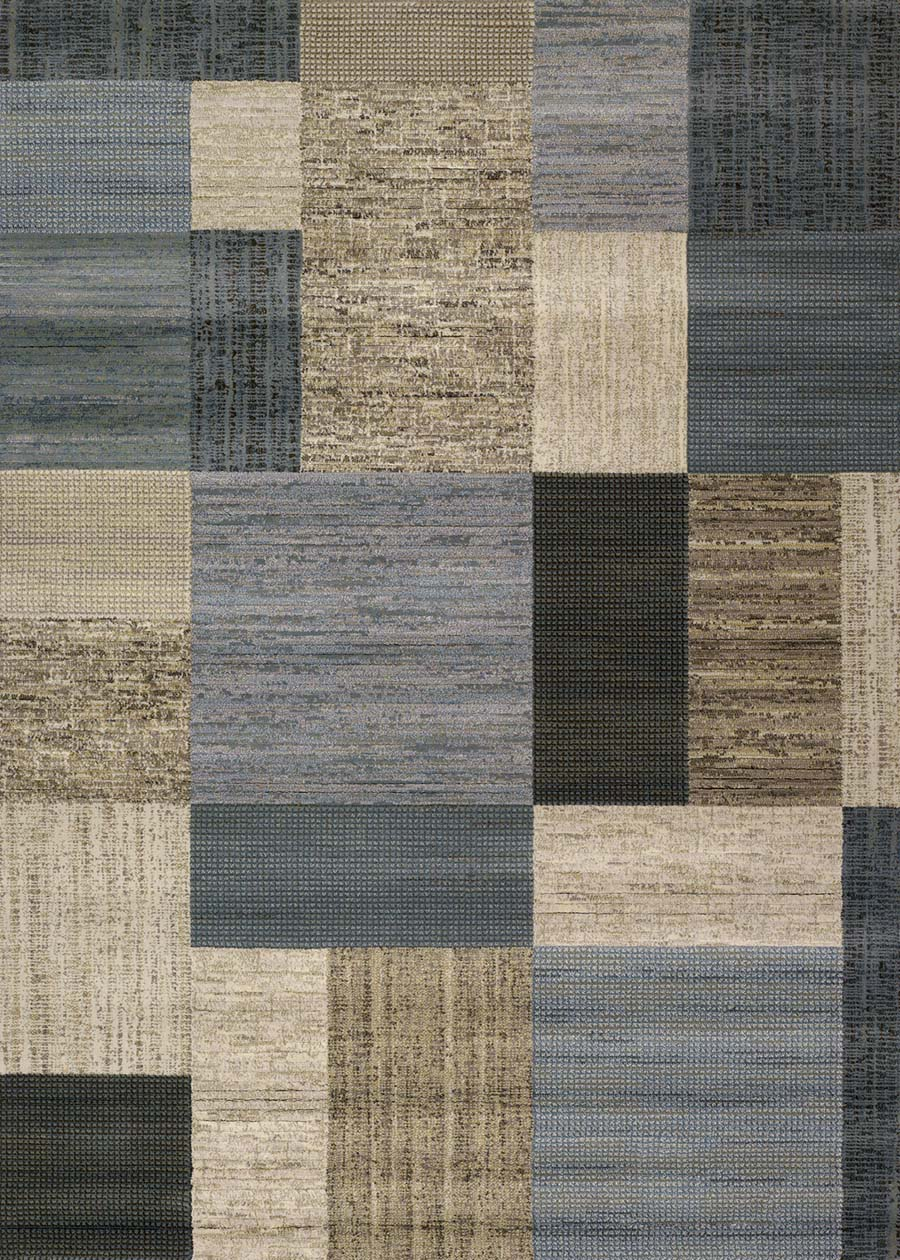 Couristan Everest 6303/6454 Geometrics Tan/Teal Rug