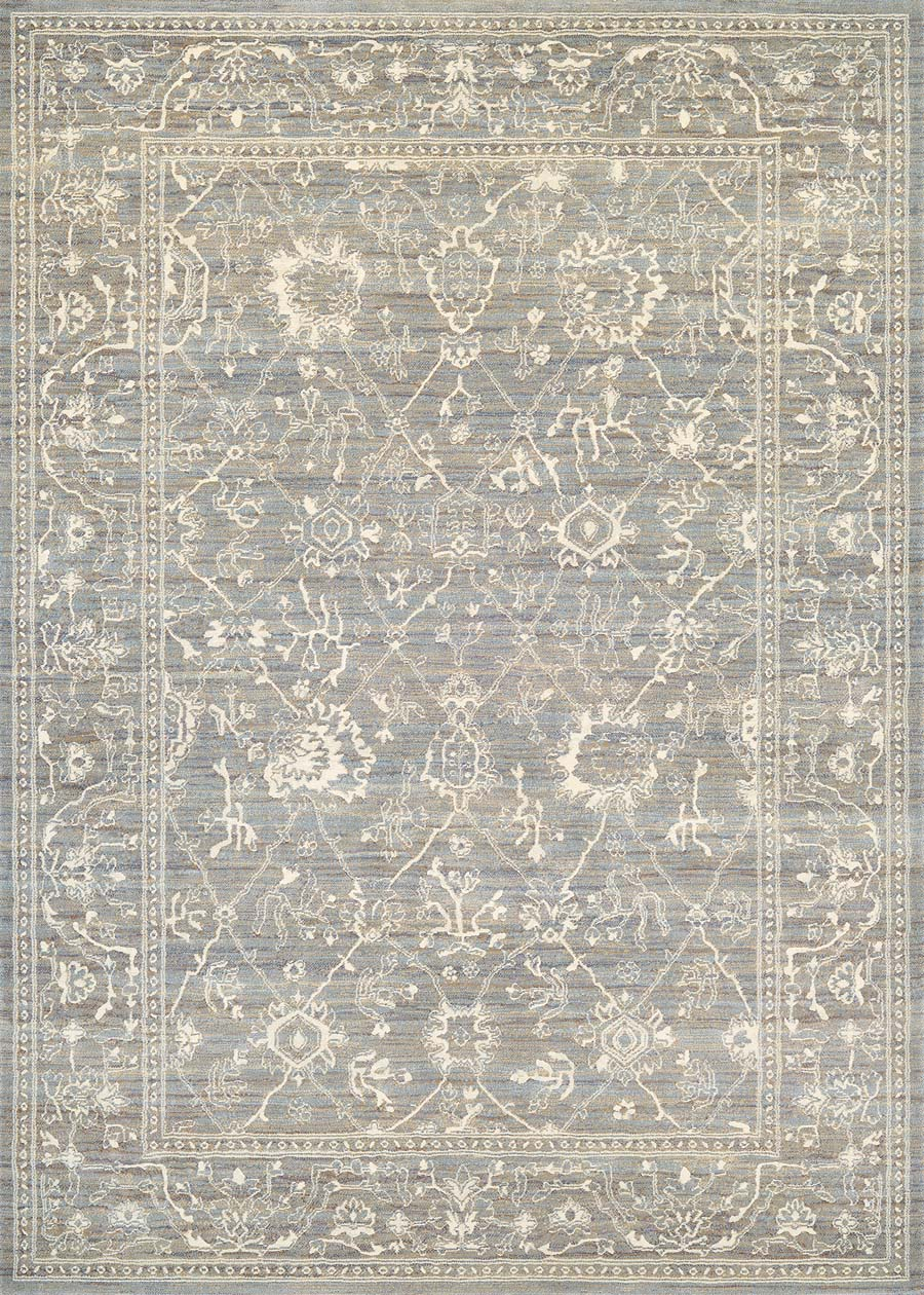 Couristan Everest 6340/6323 Persian Arabq Charcoal/Ivory Rug