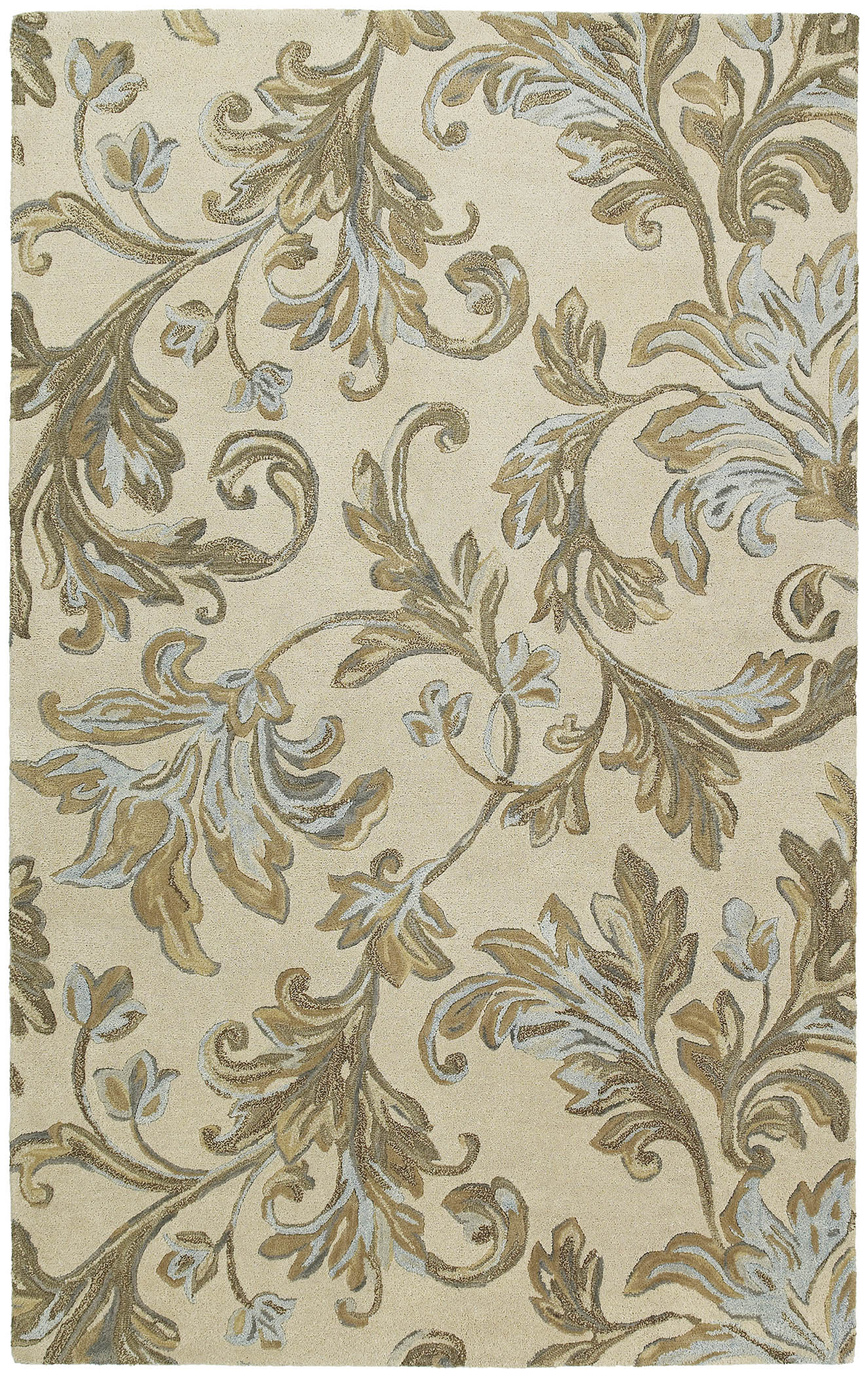 Calais 7507 Floral Waterfall Ivory 01 Rug by Kaleen