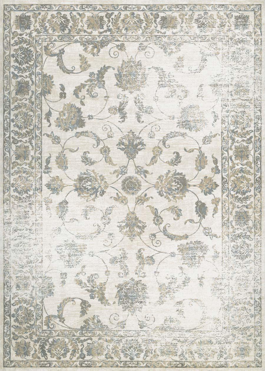 couristan provincia botanic applique cream beige rug - Couristan Rugs