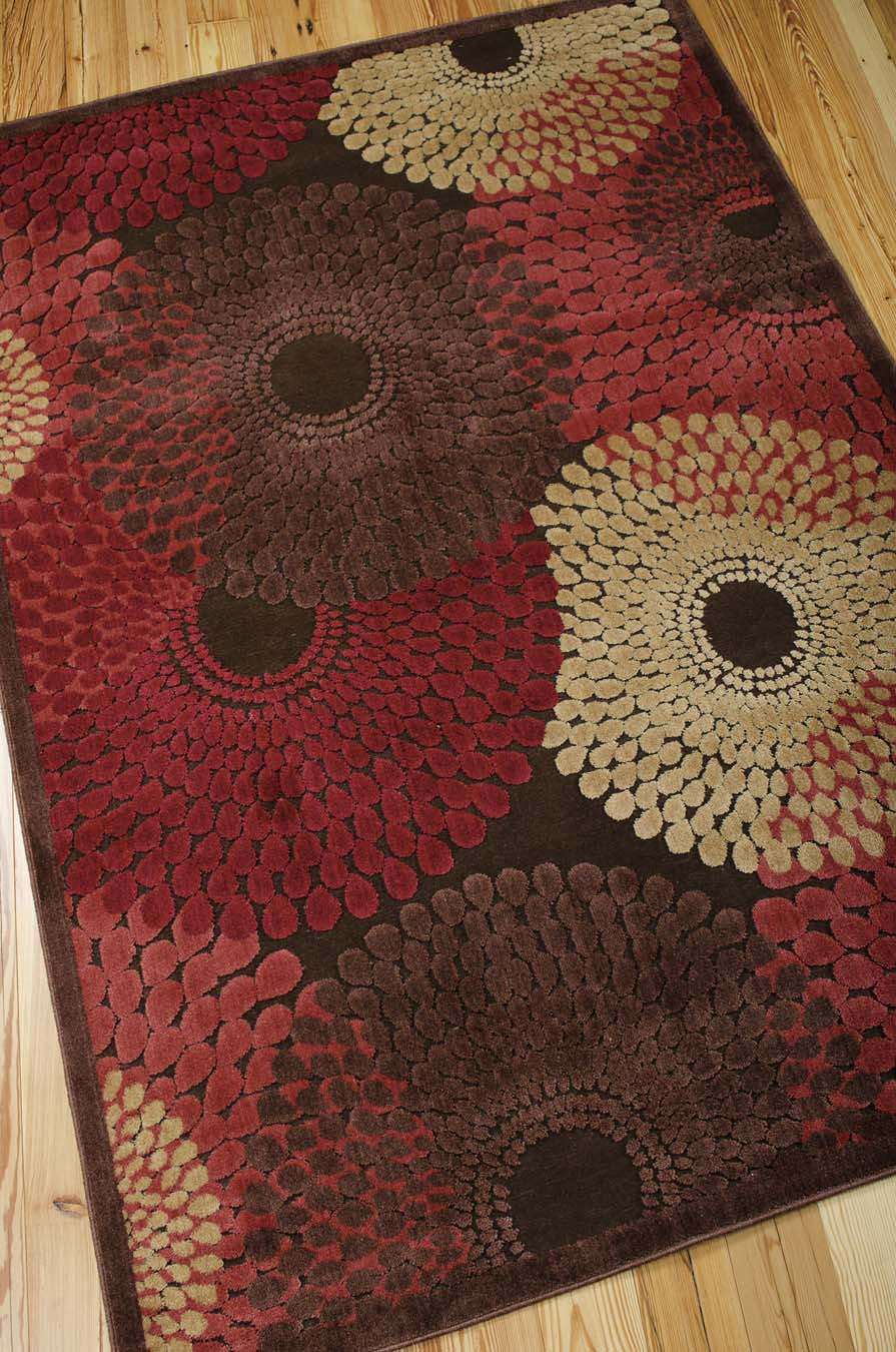 Nourison Graphic Illusions GIL04 Brown Rug