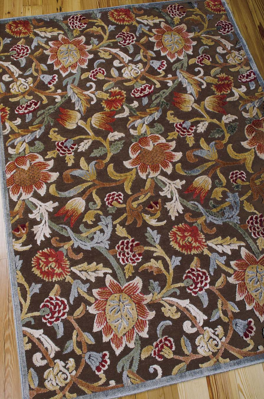 Nourison Graphic Illusions GIL06 Brown Rug