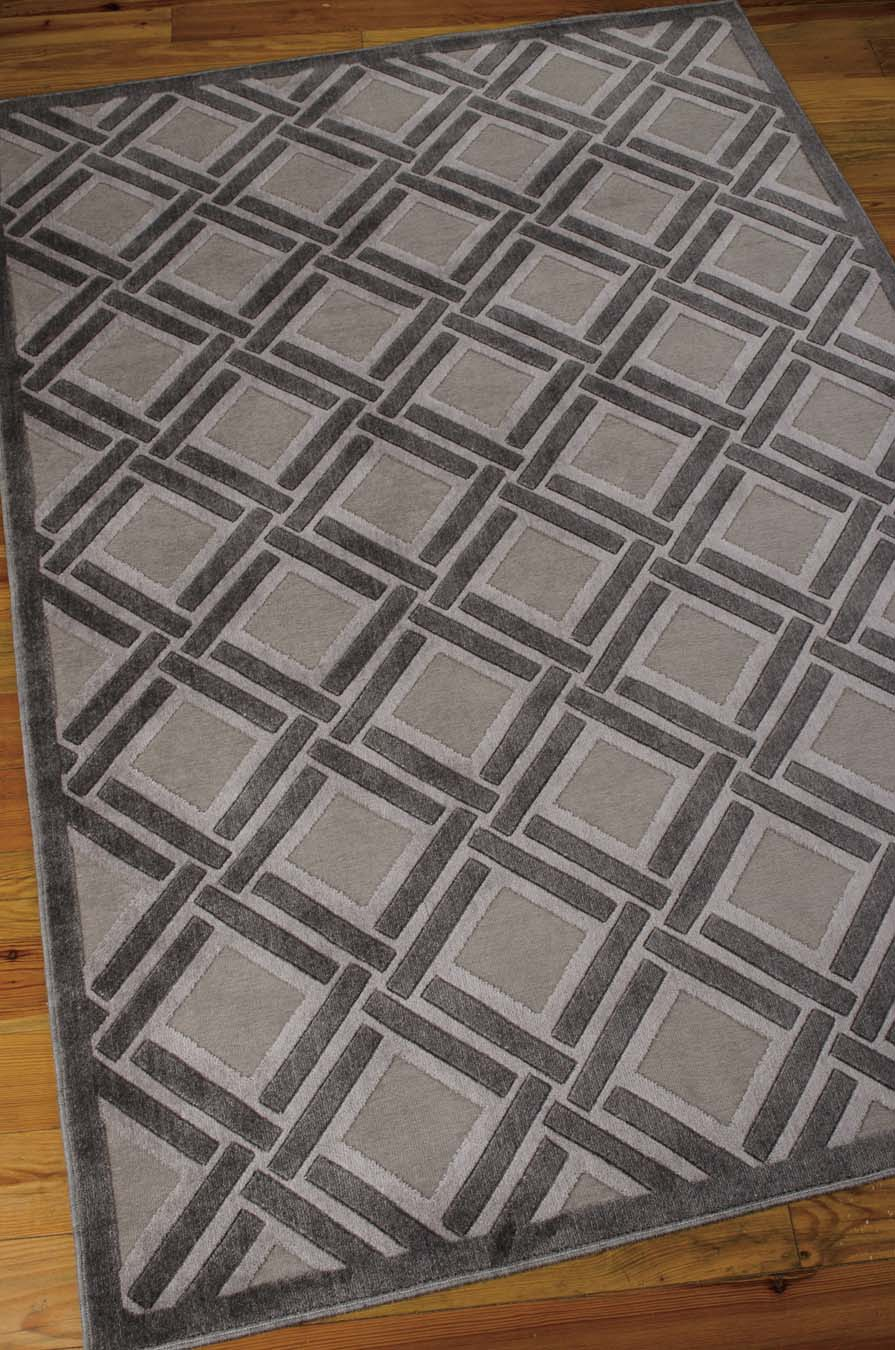 Nourison Graphic Illusions GIL21 Grey Rug