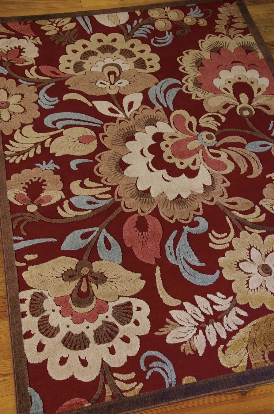 Nourison Graphic Illusions GIL23 Red Rug