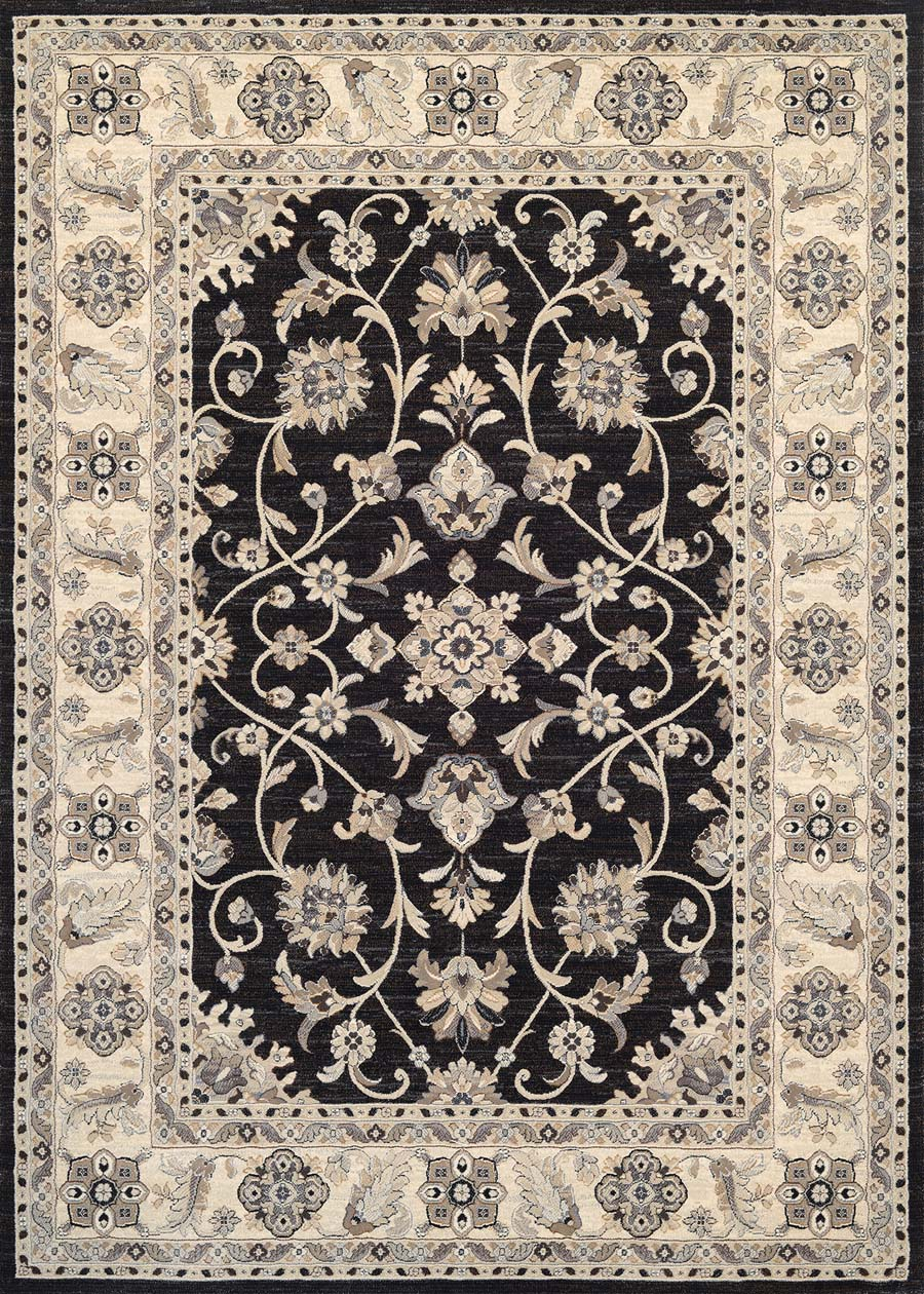 Couristan Everest 8972/3363 Rosetta Ebony Rug