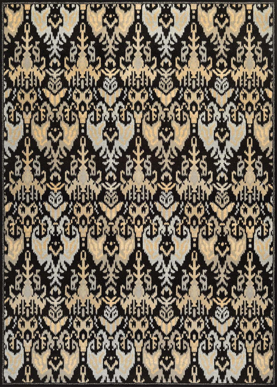 Couristan Everest 9126/0619 Zion Black/Teal Rug