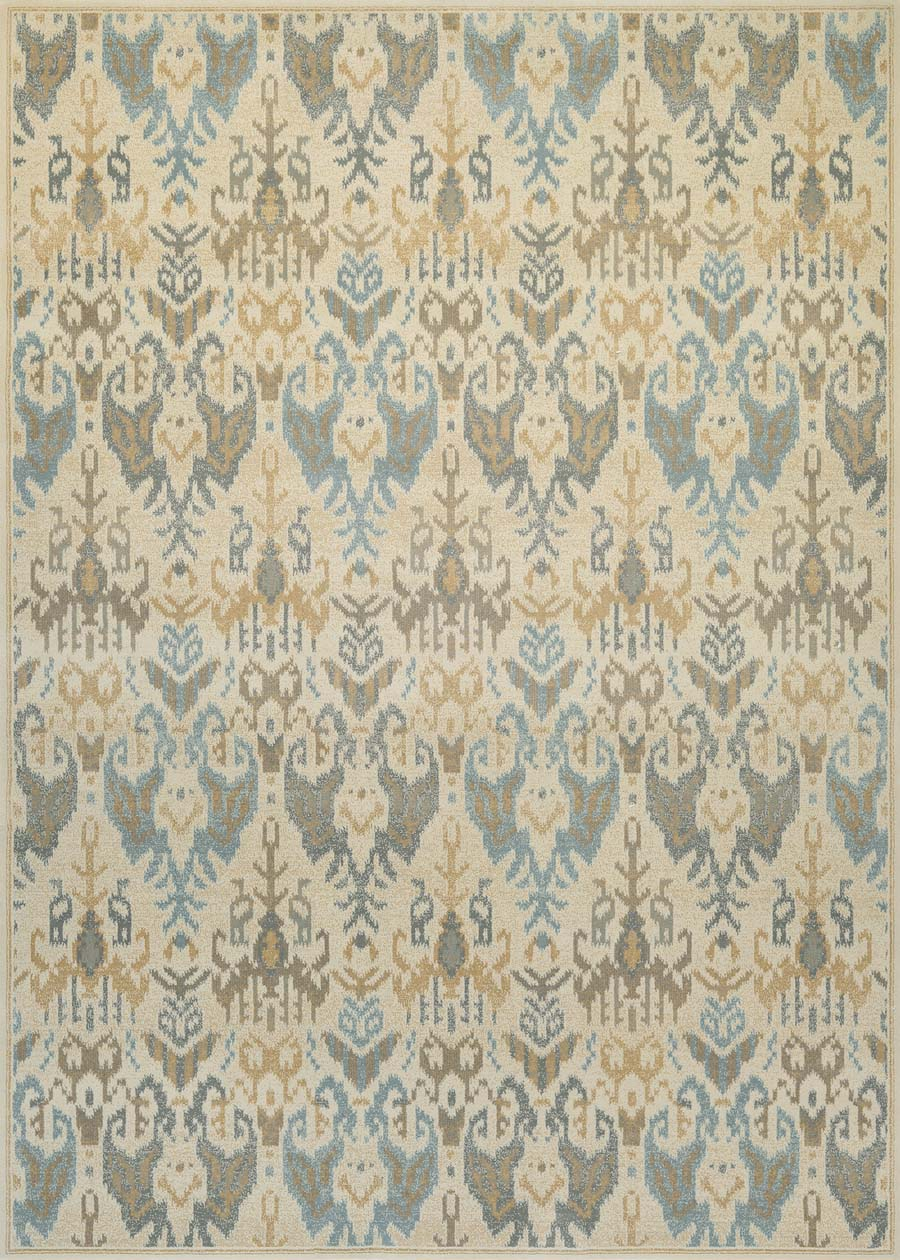 Couristan Everest 9126/1113 Zion Desert Sand/Teal Rug