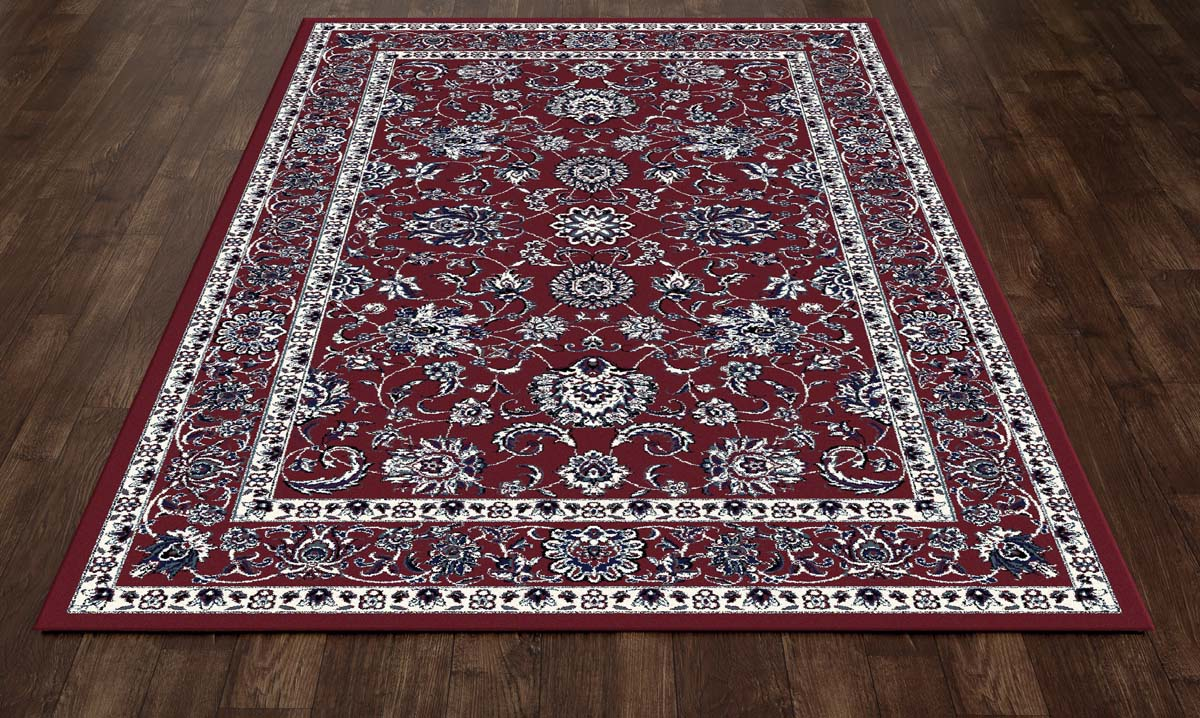 Trinity Traditional Border Red Rug