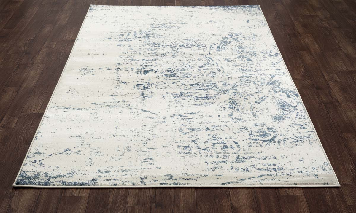 Allure Weathered Block Steel Blue Rug
