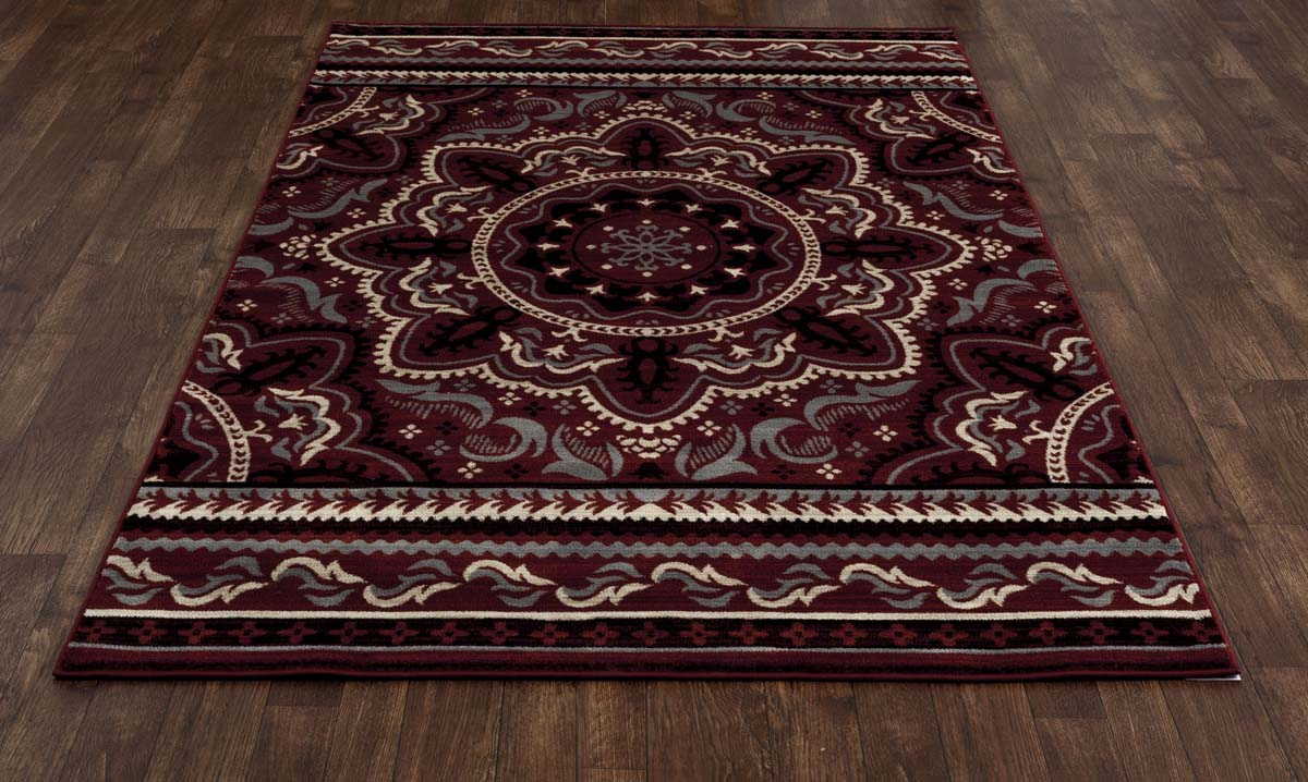 Heritage Fanciful Red Rug