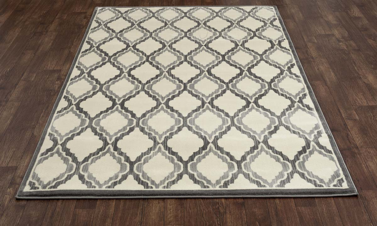 Heritage Hopscotch Grey Rug