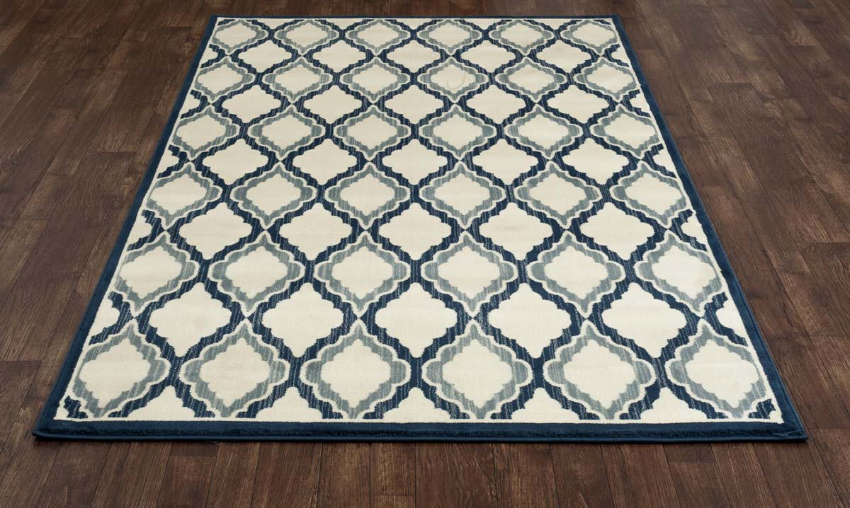 Heritage Hopscotch Peacock Blue Rug