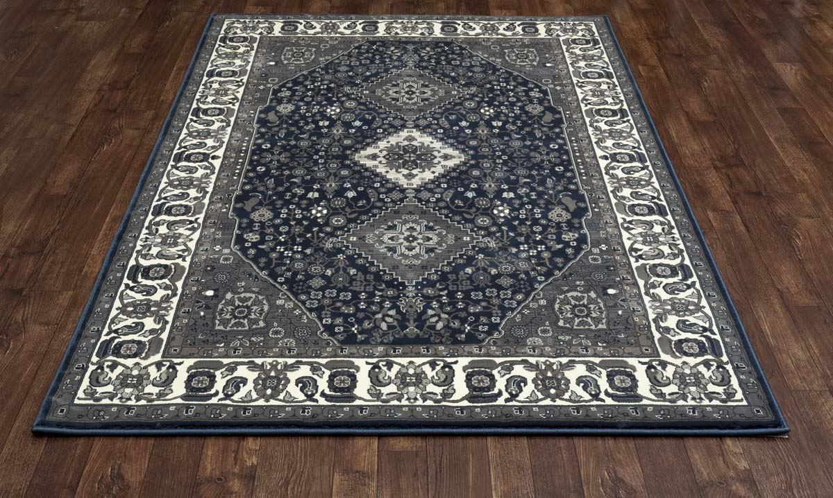 Clinton Cathedral Steel Blue Rug