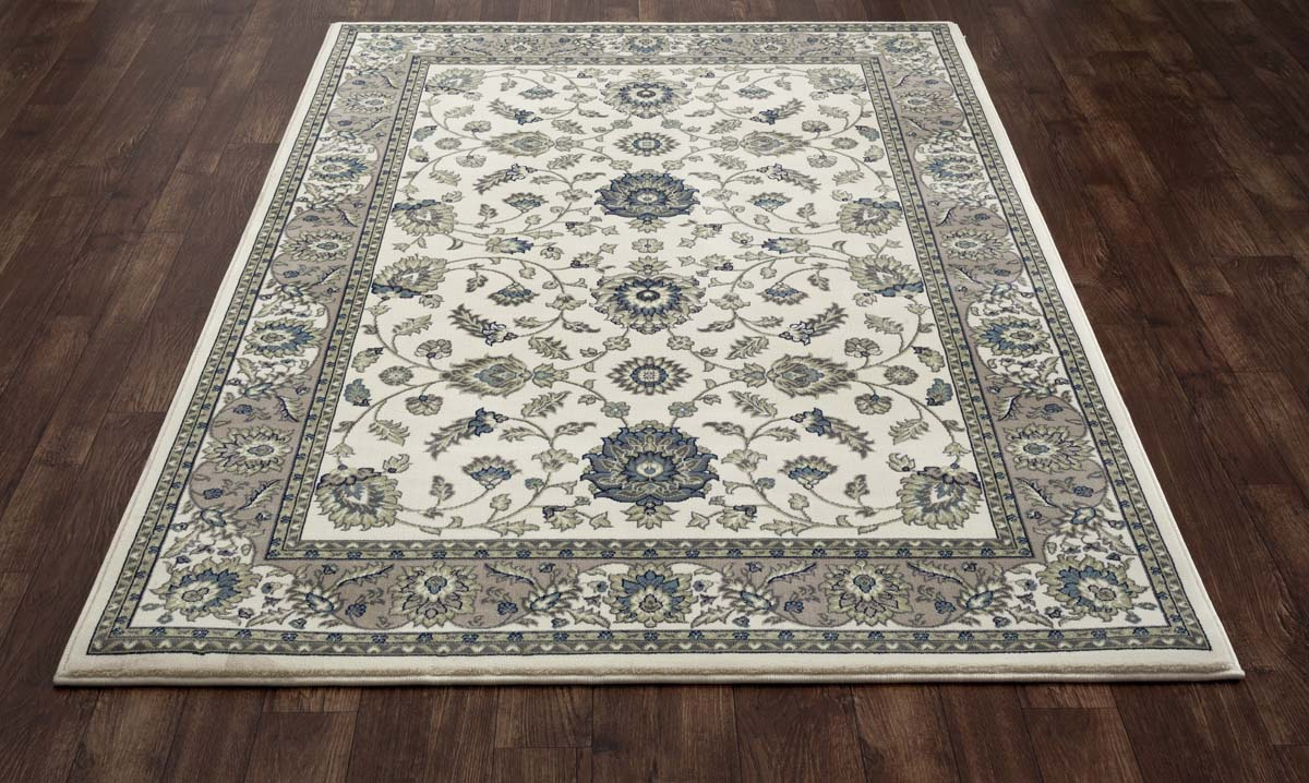 Lancaster Jacobean Border Cream Rug
