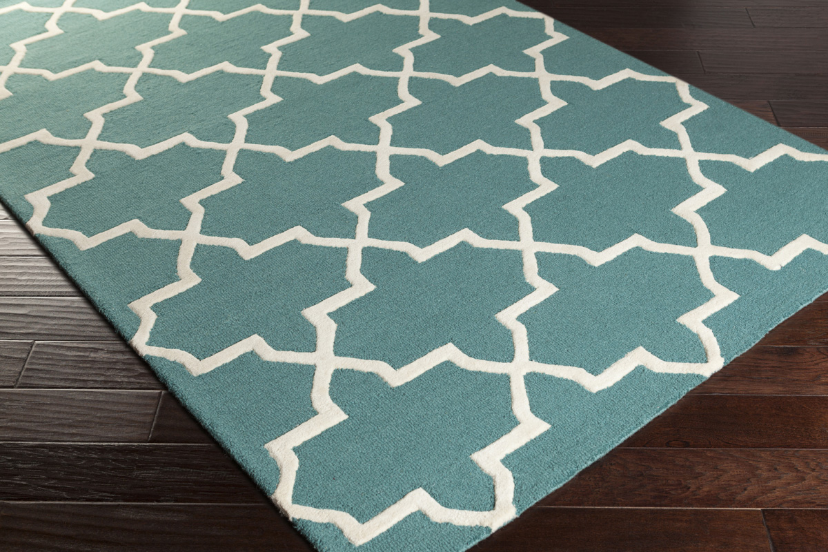 Artistic Weavers Pollack Keely Awdn2027 Teal White Area Rug