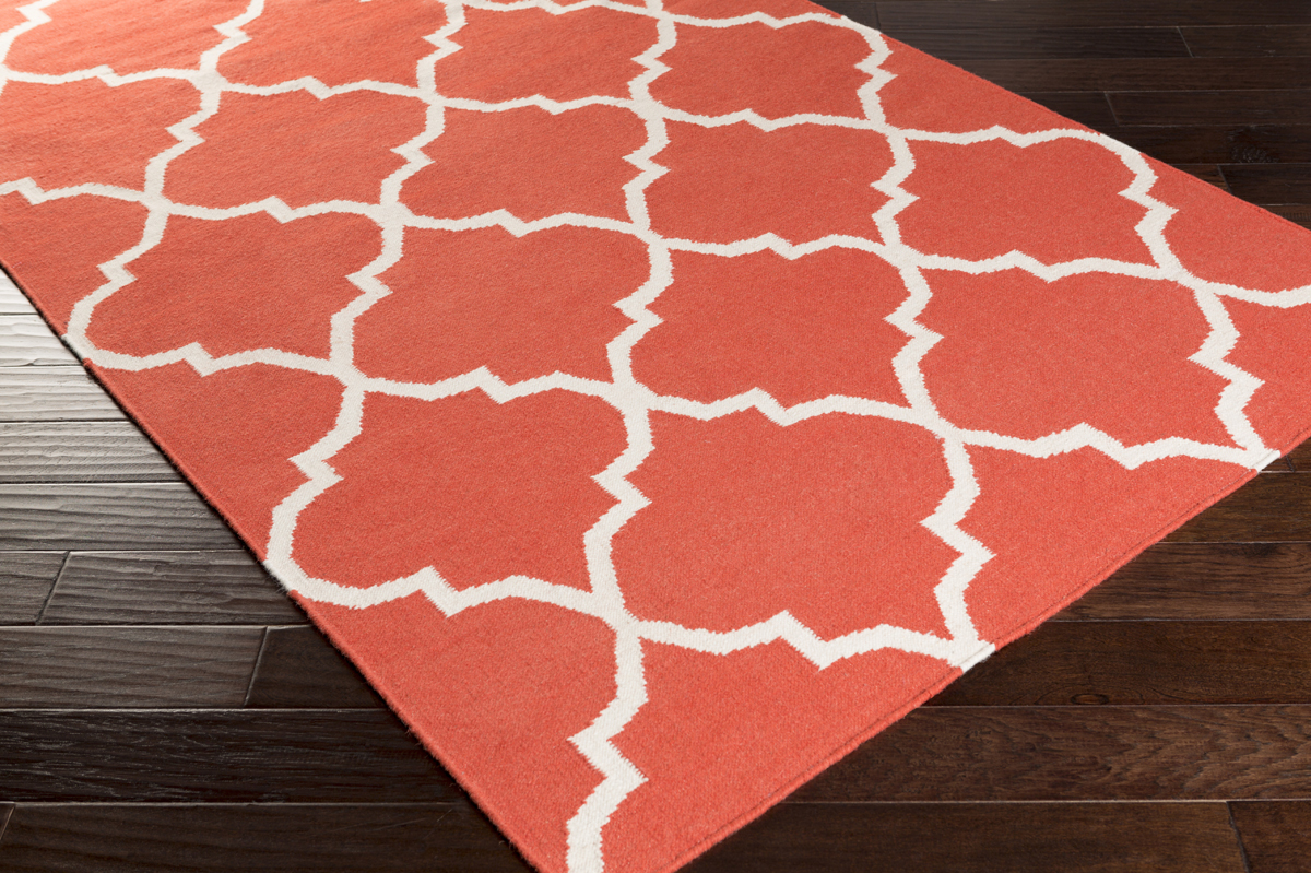 Artistic Weavers York Mallory Awhd1015 Coral White Area Rug