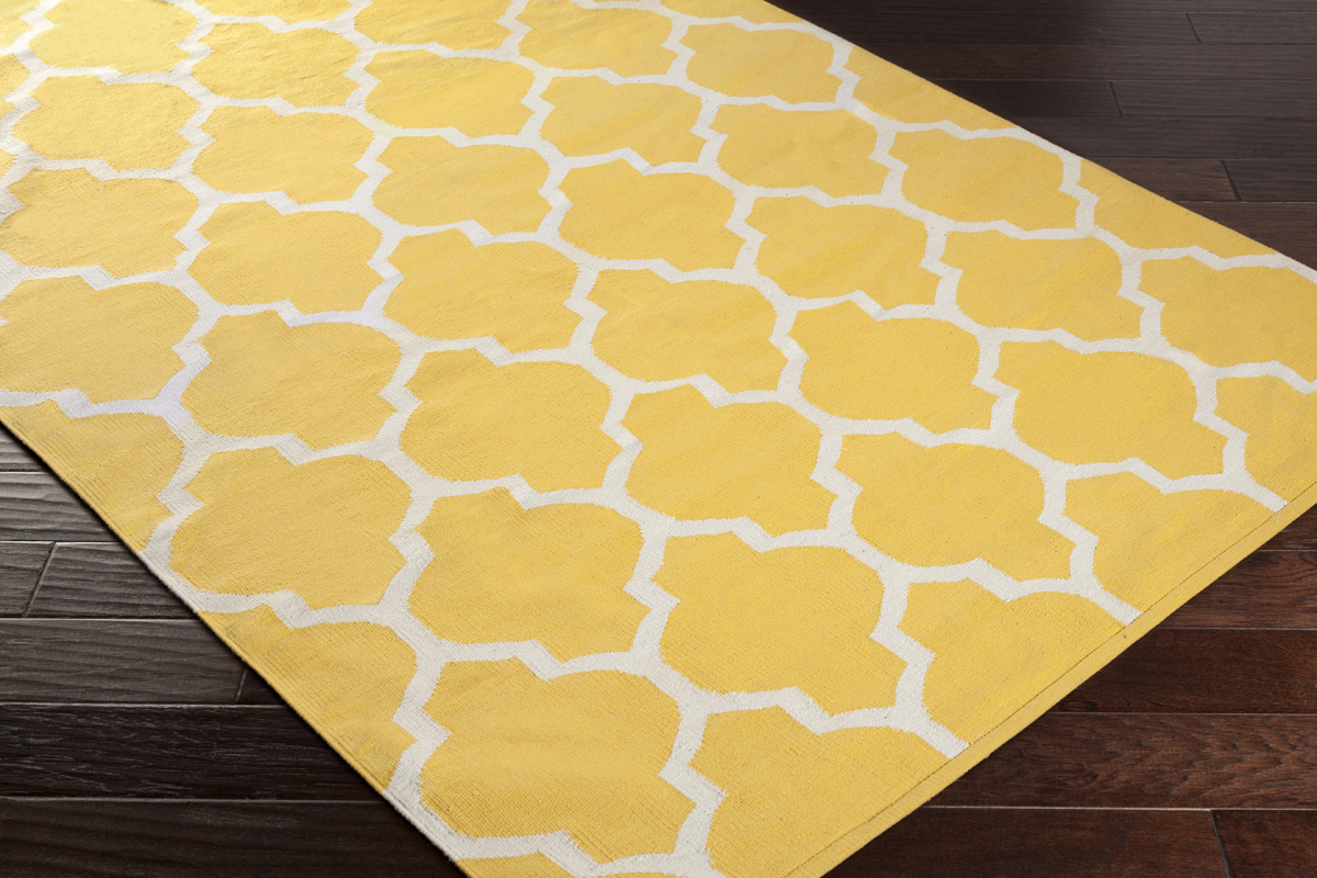 Artistic Weavers Vogue Claire Awlt3009 Yellow White Area Rug