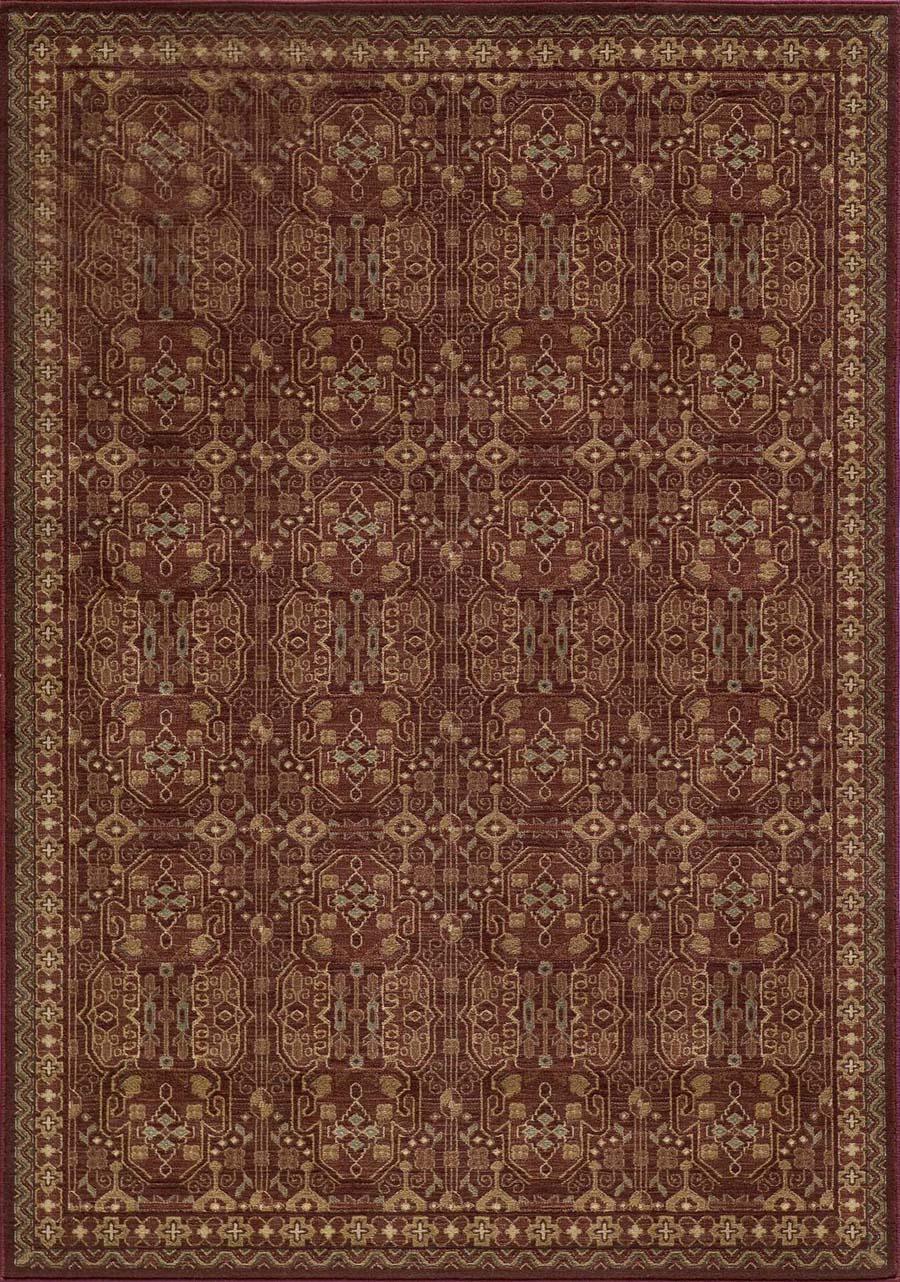 Momeni belmont be 07 red rug for Momeni rugs